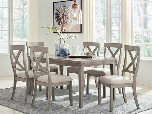 Parellen Gray Dining Table & 6 Chairs