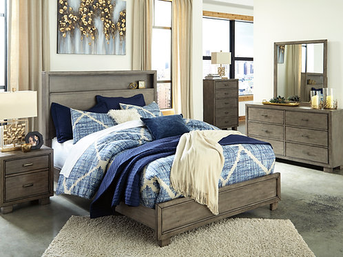 Arnett Smoky Gray Full or Queen Bedroom Set
