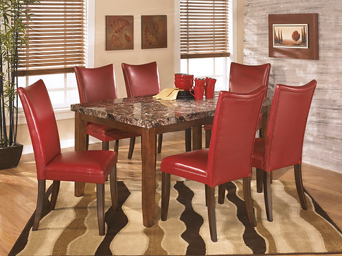 Lacey Salsa Dining Table & 6 Chairs