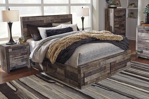 Derekson Multi-Gray Youth Platform Storage Bed