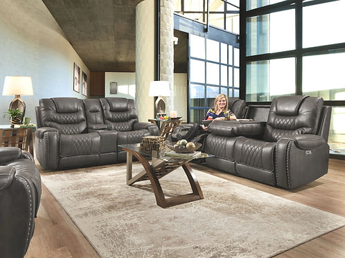 Bailey's Charcoal Reclining Sofa & Loveseat