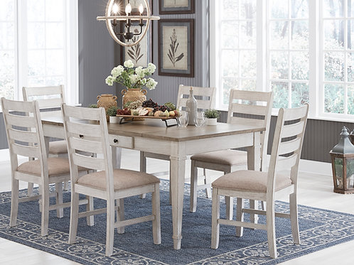 Skempton Two-Tone Storage Table & 6 Chairs
