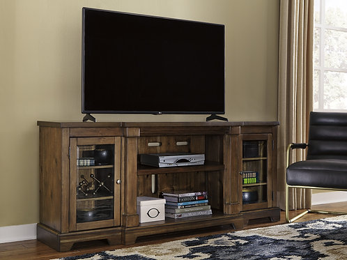 Flynnter Medium Brown XL TV Stand