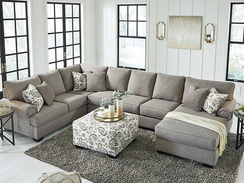 Renchen Pewter 4-Piece Sectional