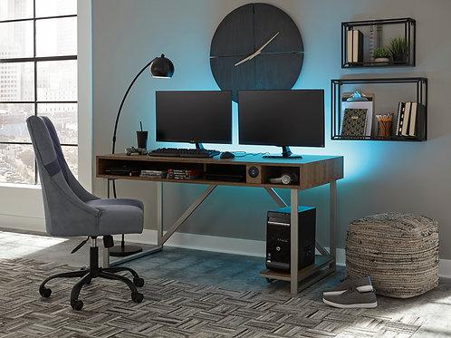 Barolli Gunmetal Woodgrain Office Desk