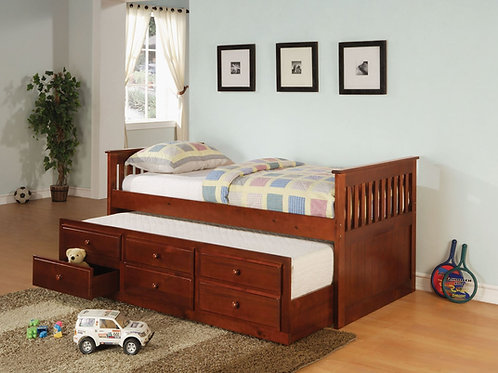 La Salle Cherry Daybed w/Trundle & Drawers