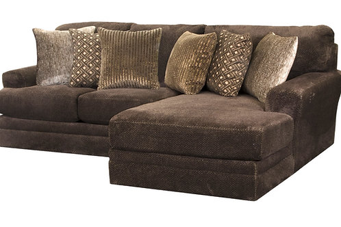 Mammoth Chocolate 2-PC Sofa Chaise