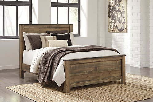 Trinell Rustic Brown Panel Bed