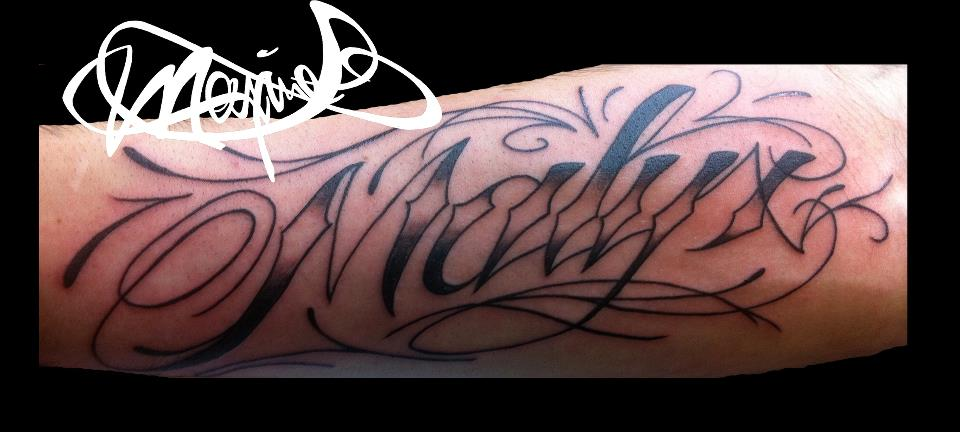 lettering-tattoo-name-tatouage-maxime lanouette
