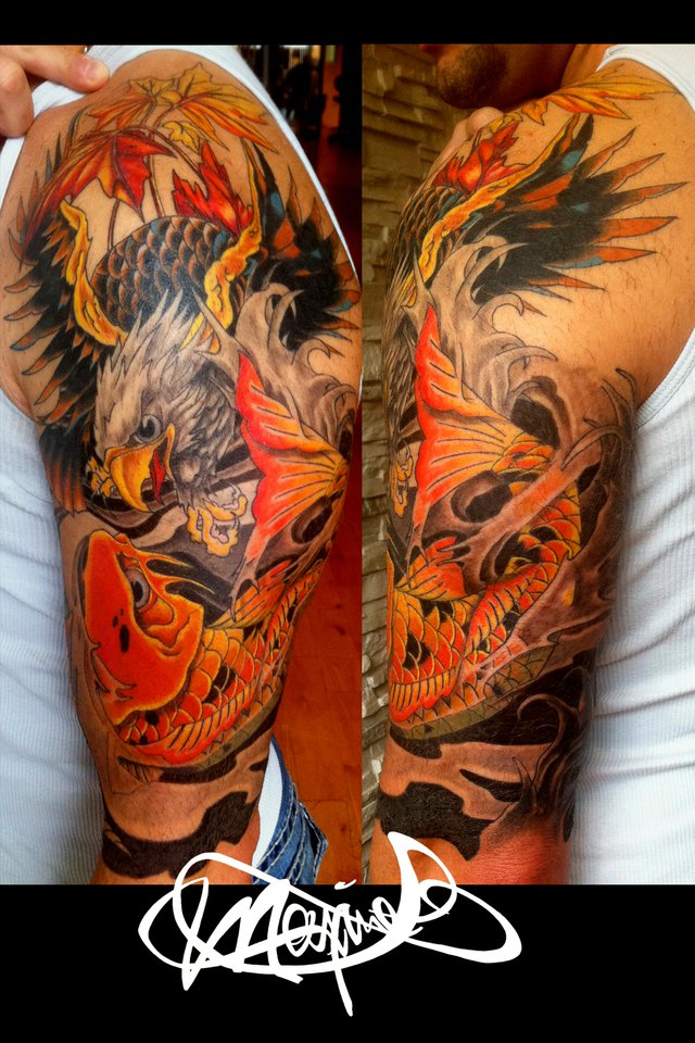 koi-tattoo-eagle-tatouage-maxime lanouette