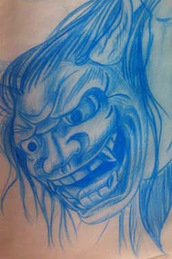 tattoo-mask-sketch-maxime lanouette