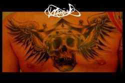 tattoo-skull-chest-maxime lanouette