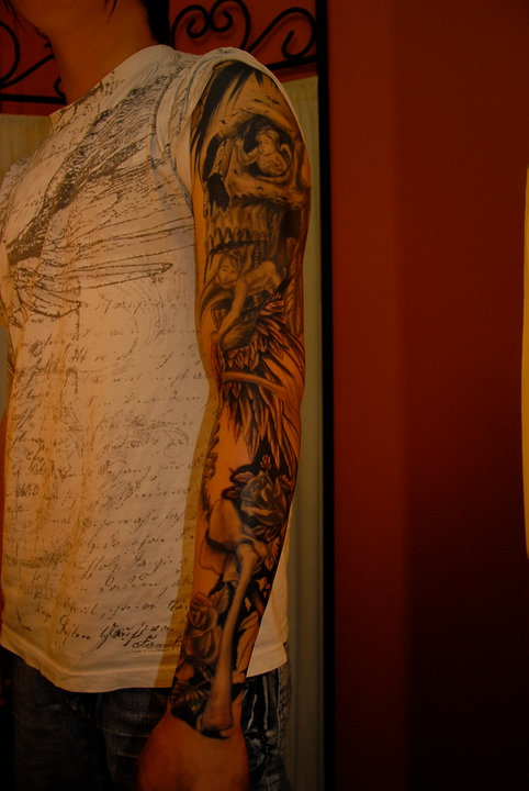 tattoo-sleeve-skull-angel-maxime lanouette