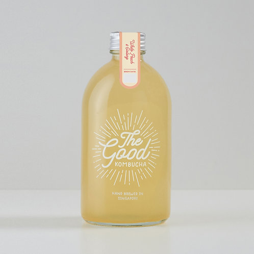 Peach & Oolong Infused Kombucha (375ml)