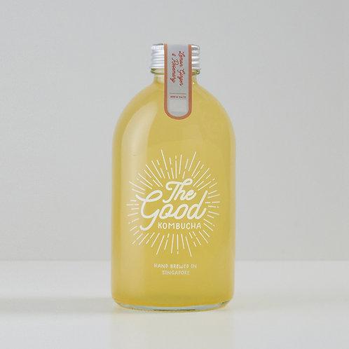 Lemon, Ginger & Rosemary Kombucha (375ml)