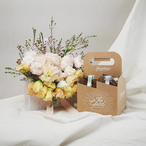 The Good Gift Hamper with Envelope Bouquet (by The Daily Foliage)