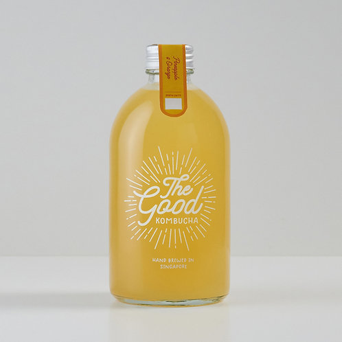 Pineapple & Orange Kombucha (400ml)