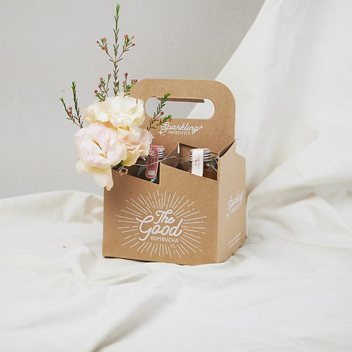 The Good Small Gift Hamper with Mini Bouquet & Fairy Lights (The Daily Foliage)