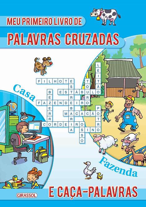 MEU 1º LIVRO PALAVRAS CRUZADAS E CACA PALAVRAS AZUL