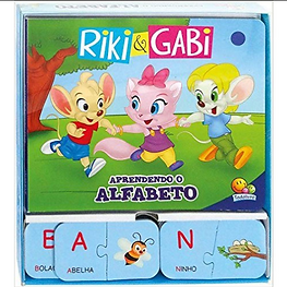 RIKI GABI EM APRENDENDO O ALFABETO - Pes