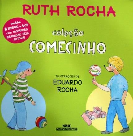RUTH ROCHA - COLECAO COMECINHO COM 8 LIVROS + CD