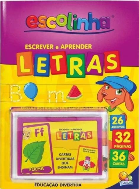 APRENDA COM CARTAS! ESCREVER E APRENDER - LETRAS