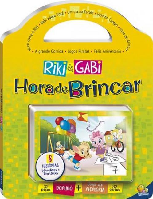 LIVRO 2 EM 1 - DOMINO+MEMORIA: HORA DE BRINCAR