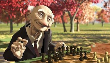 Geriho hra - napínavá šachová partie od Pixaru režírovaná čechem
