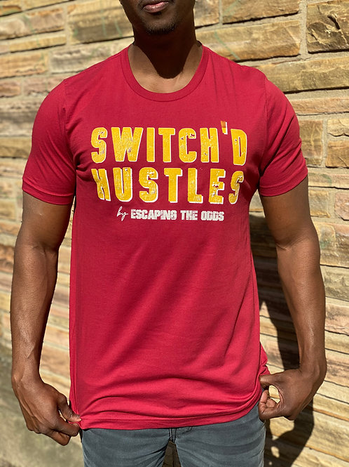 Red Switch'd Hustles Short Sleeved Fitted T-Shirt
