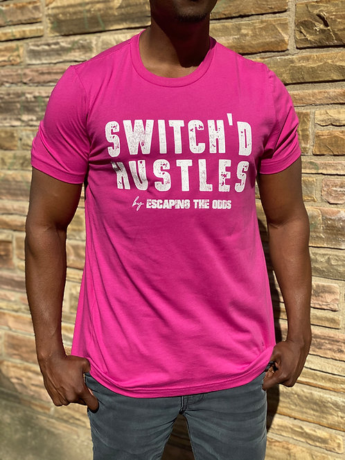 Berry Switch'd Hustles Short Sleeved Fitted T-Shirt