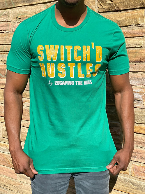 Green Switch'd Hustles Short Sleeved Fitted T-Shirt