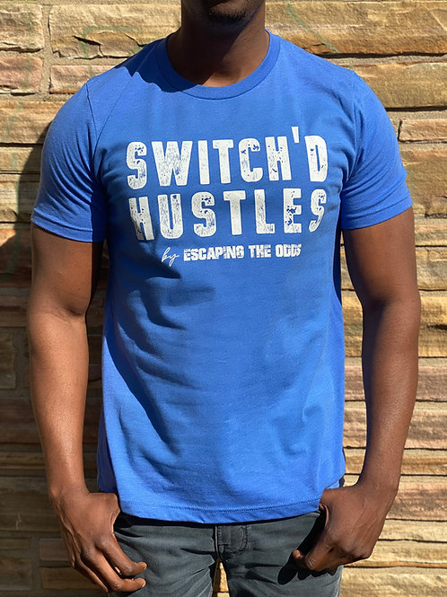 Royal Blue Switch'd Hustles Short Sleeved Fitted T-Shirt