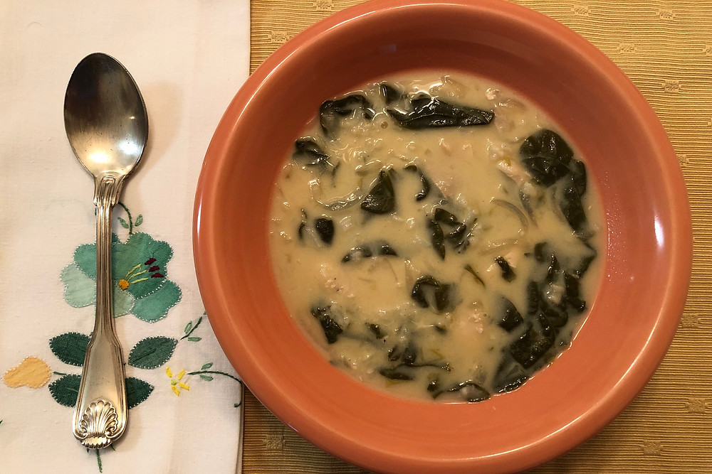 Italian American Spinach Soup