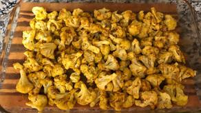 Spicy Golden Cauliflower Bits