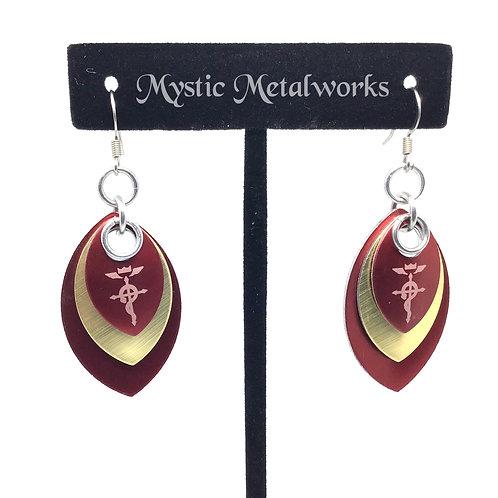 Flamel's Cross Earrings