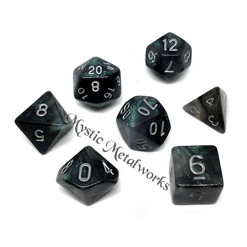 Luminous Dark Fae Dice