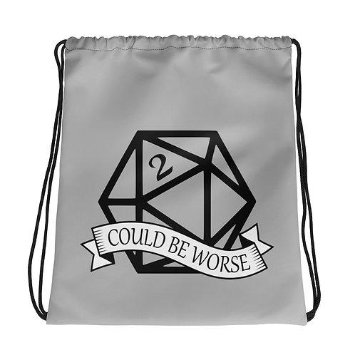 Could Be Worse Drawstring bag