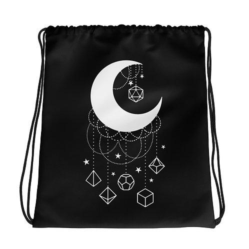 Moon Dice Drawstring Bag