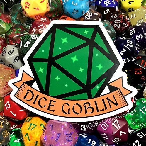 """Dice Goblin 3"""" Sticker"""