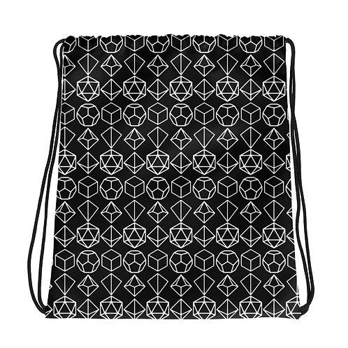 White Dice Drawstring Bag