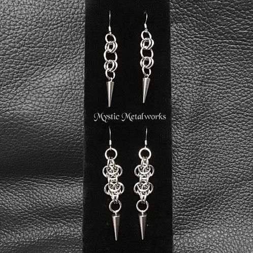 Steel Chainmaille Earrings