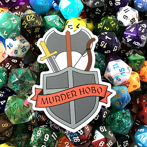"Murder Hobo 3"" Sticker"