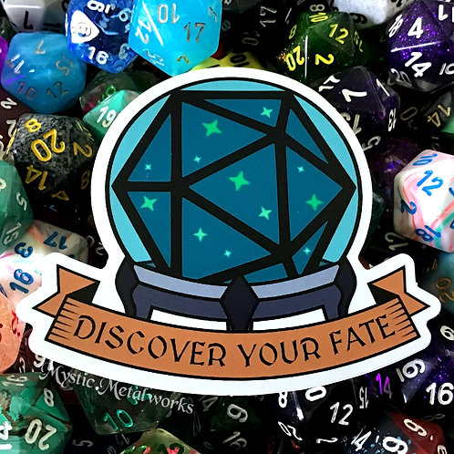 """Discover Your Fate 3"""" Sticker"""