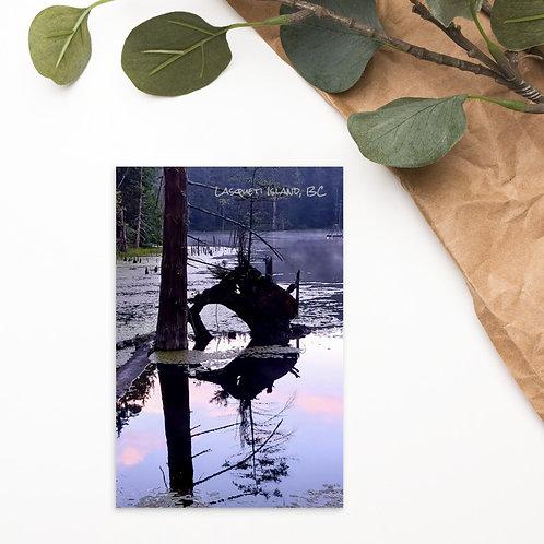 Pete's Lake Heart Postcard