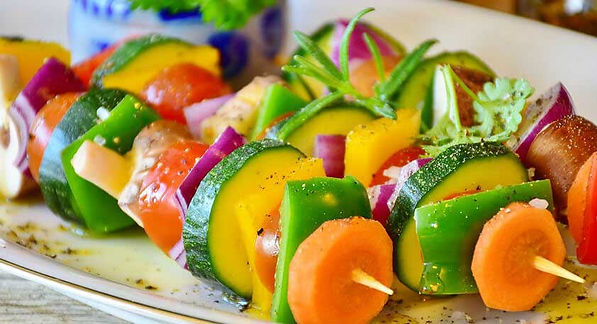 Vegan and Vegetarian vegetable assortment.