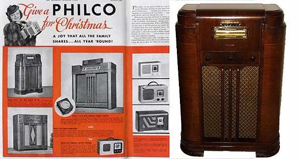 Philco Radio Targets the Affluent, image of a Philco Radio.