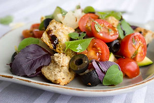 Basil & Veggies in a Bowl
