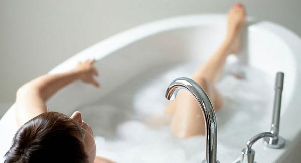Soaking in a Epsom Salt bath.