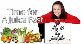 Gal with calendar marked for a 10 day juice fast. Time for Another Juice Fast.