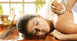 Woman getting a Ayurvedic Massage. Ayurvedic Message